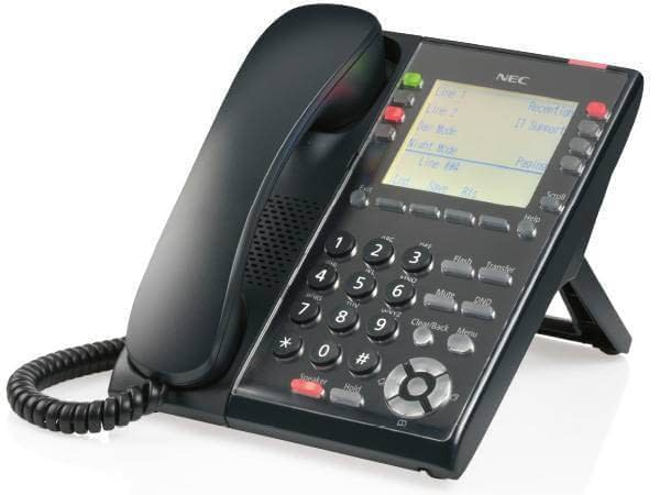 NEC SL2100 8 button Digital Phone - IP7WW-8IPLD-C1 TEL(BK) Image