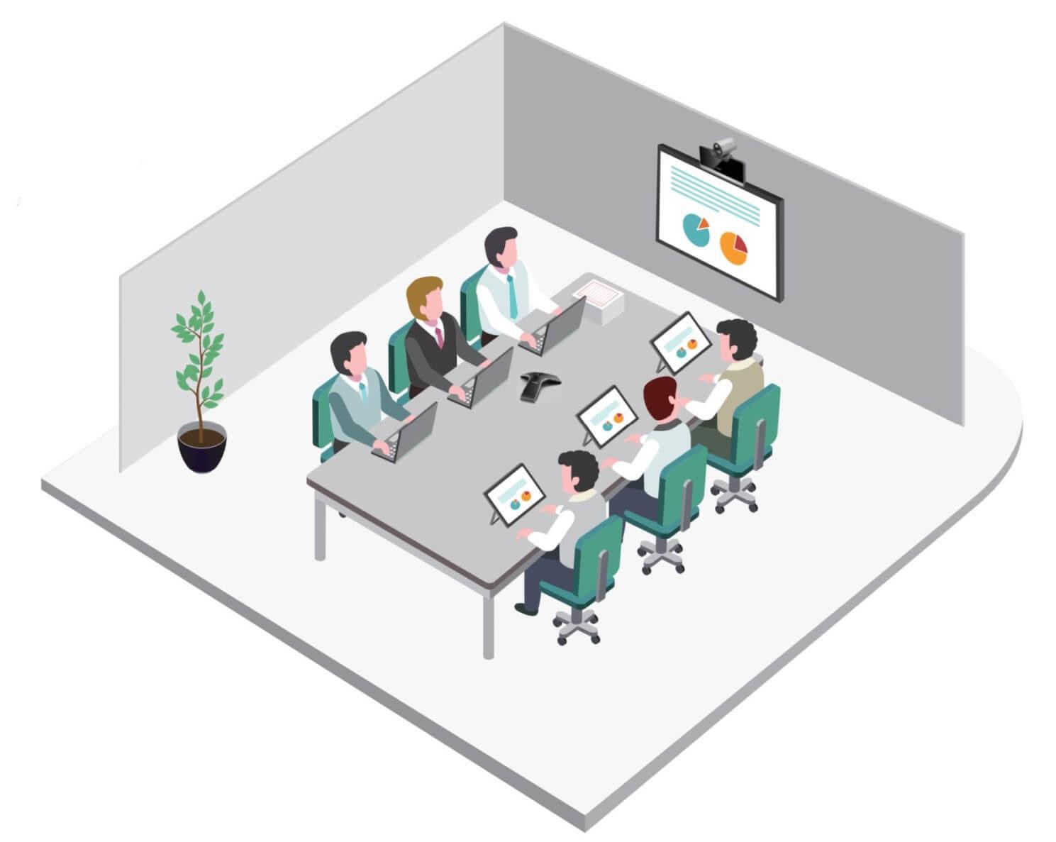 Yealink medium room video conferencing